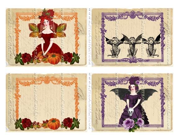 Hallow Marie Backgrounds Large Collage Sheet by Cassandra VanCuren - CV131