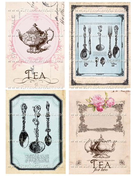 Tea Time Large Collage Sheet by Cassandra VanCuren - CV87