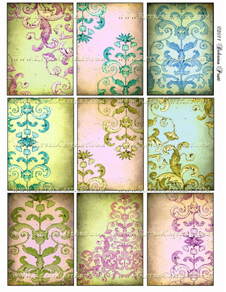 ATC Size Collage Sheet by Debrina Pratt - DP104