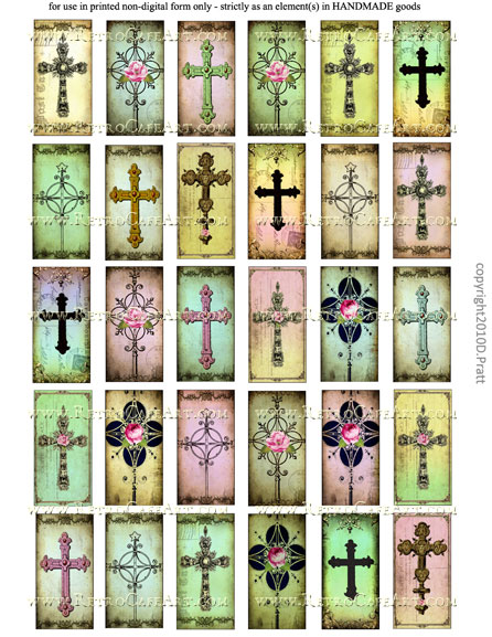 1 x 2 Inch Domino Collage Sheet by Debrina Pratt - DP12