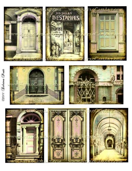 ATC Size Fairy Doors Collage Sheet by Debrina Pratt - DP130
