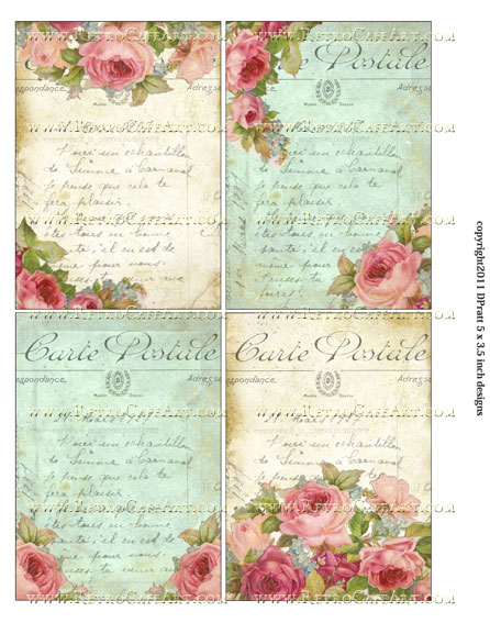 5 x 3.5 Inch Images Collage Sheet by Debrina Pratt - DP170