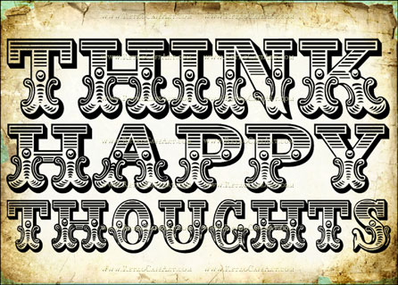 5 x 7 Happy Thoughts Image by Debrina Pratt - DP173
