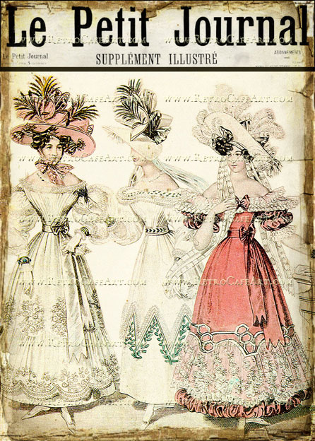 5 x 7 Le Petit Journal Image by Debrina Pratt - DP174