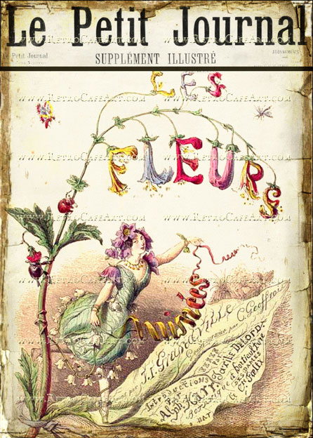 5 x 7 Le Petit Journal Fleurs Image by Debrina Pratt - DP175