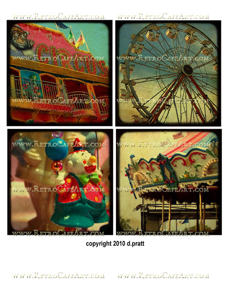 Circus Collage Sheet by Debrina Pratt - DP178
