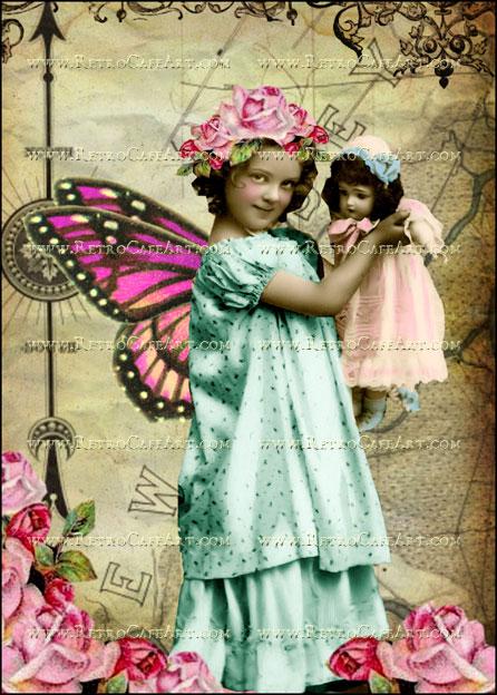 5 x 7 Inch Fairy Doll Image by Debrina Pratt - DP179