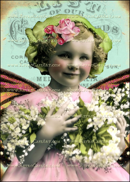 5 x 7 Inch Flower Girl Image by Debrina Pratt - DP180