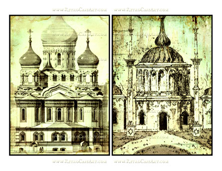 5 x 7 Inch Temple Images by Debrina Pratt - DP183
