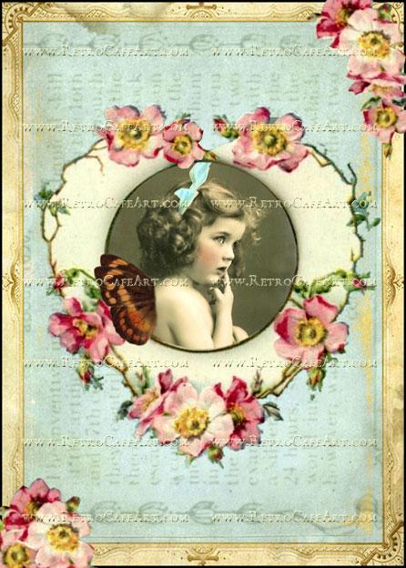 5 x 7 Inch Fairy Heart Image by Debrina Pratt - DP185