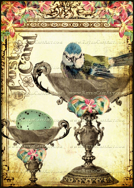 5 x 7 Bird Cup Image by Debrina Pratt - DP187