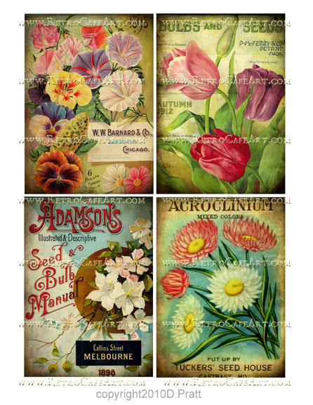 Vintage Garden Images Collage Sheet by Debrina Pratt - DP189