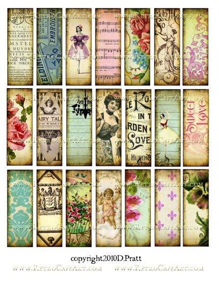 1 x 3 Inch Microslides Collage Sheet by Debrina Pratt - DP18
