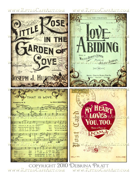 Garden of Love Images Collage Sheet by Debrina Pratt - DP190