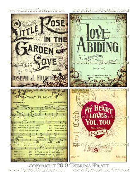 Garden of Love Images Collage Sheet by Debrina Pratt - DP190