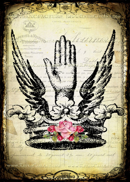 5 x 7 Hand and Crown Image by Debrina Pratt - DP191