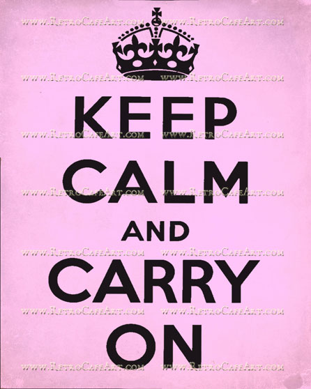 8 x 10 Keep Calm Pink Image by Debrina Pratt - DP194