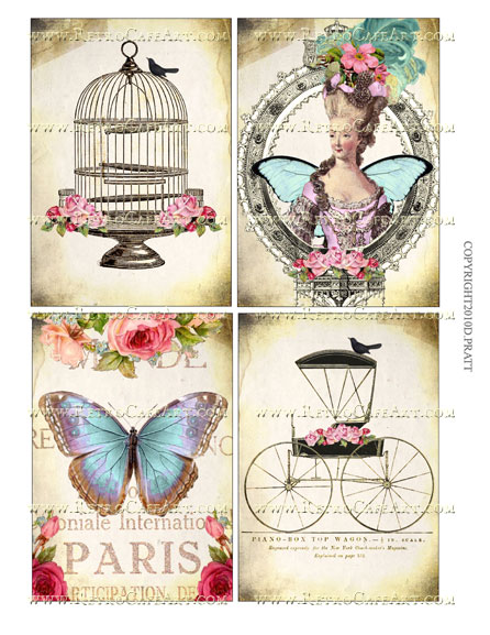 5 x 3.5 Inch Images Collage Sheet by Debrina Pratt - DP196