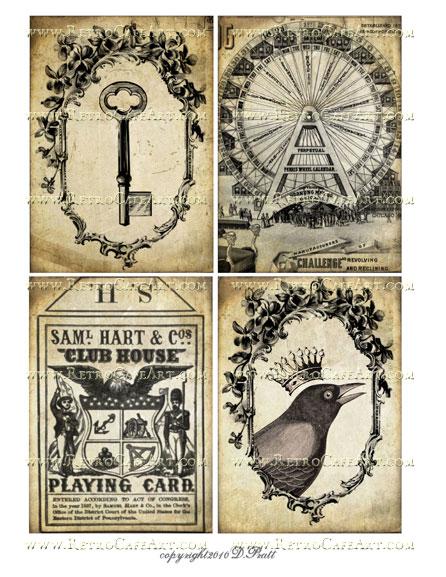 Vintage Sepia Images Collage Sheet by Debrina Pratt - DP198