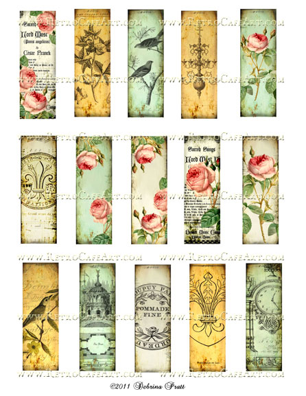 1 x 3 Inch Microslides Collage Sheet by Debrina Pratt - DP19