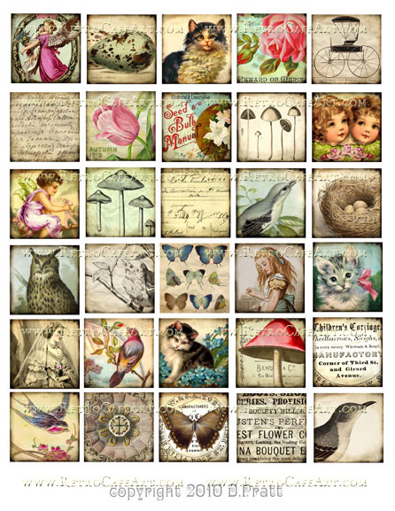 1.5 Inch Squares Collage Sheet by Debrina Pratt - DP1