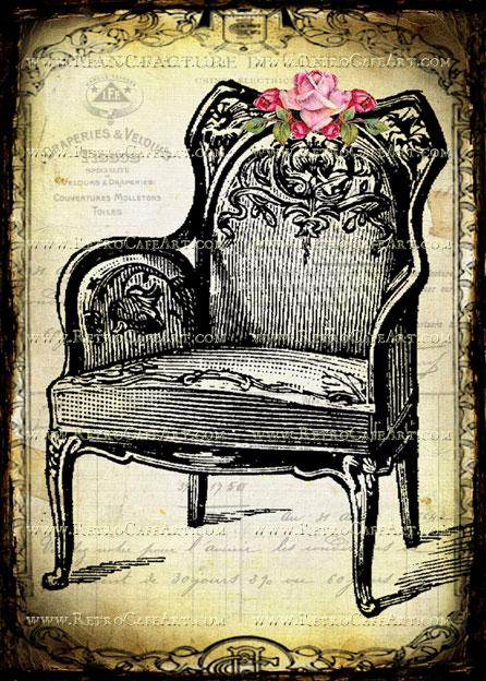 5 x 7 Vintage Chair Image by Debrina Pratt - DP200