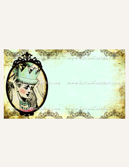 Blue Allice Business Card Template by Debrina Pratt - DP209