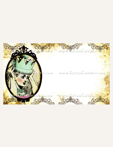 Antique White Alice Business Card Template by Debrina Pratt - DP210