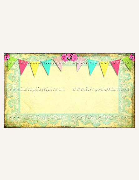 Flag Banner Business Card Template by Debrina Pratt - DP212