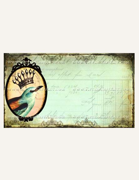 Crowned Bird Business Card Template by Debrina Pratt - DP213