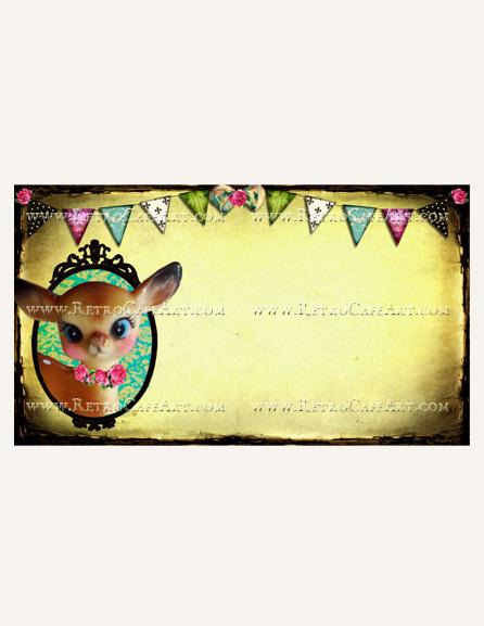 Hello Deer Business Card Template by Debrina Pratt - DP214