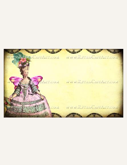 Marie Business Card Template by Debrina Pratt - DP215
