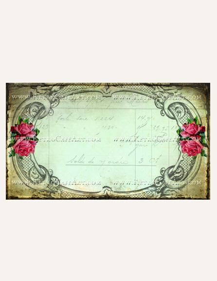 Antique Rose Business Card Template by Debrina Pratt - DP216