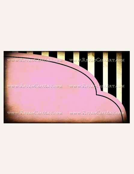 Candy Stripes Business Card Template by Debrina Pratt - DP217