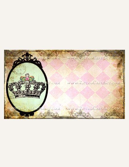 Fancy Crown Business Card Template by Debrina Pratt - DP241