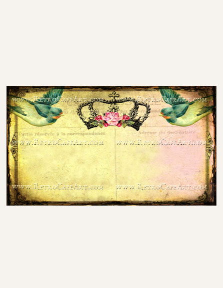 Vintage Birds Business Card Template by Debrina Pratt - DP242