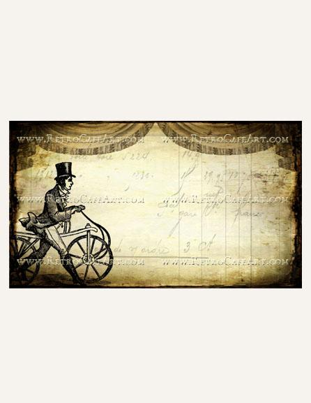 Vintage Bicycle Business Card Template by Debrina Pratt - DP243