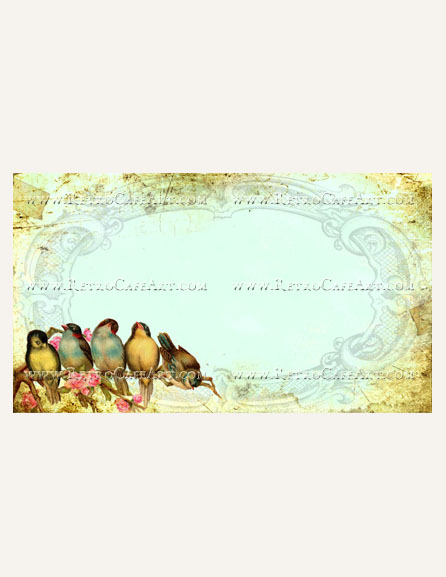 Vintage Birds on a Branch Business Card Template by Debrina Pratt - DP245