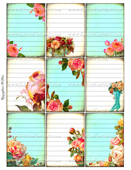 ATC Size Collage Sheet by Debrina Pratt - DP254