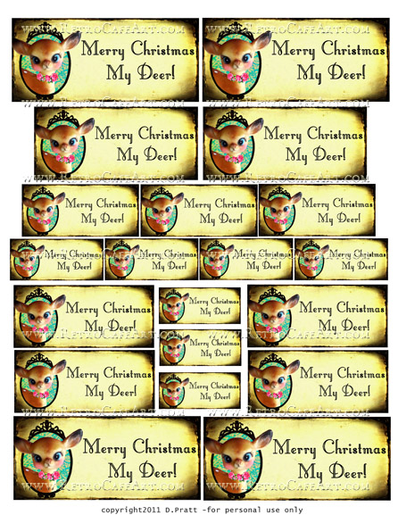 My Deer Tag Greetings Collage Sheet by Debrina Pratt - DP256