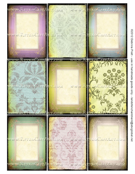 ATC Size Collage Sheet by Debrina Pratt - DP278