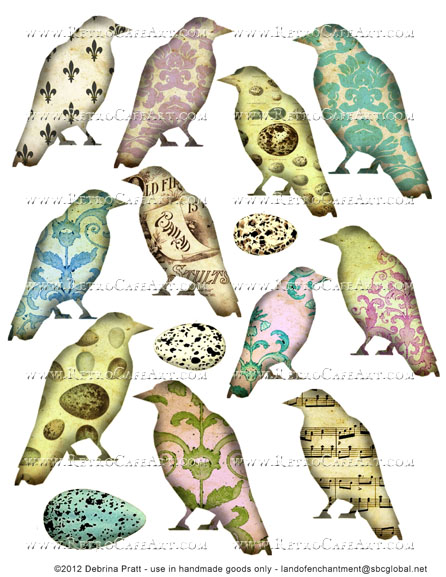 Birds Collage Sheet by Debrina Pratt - DP280