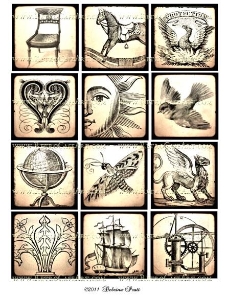 2.5 Inch Squares Collage Sheet by Debrina Pratt - DP28