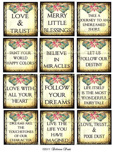 2.5 Inch Squares Quotes Collage Sheet by Debrina Pratt - DP29