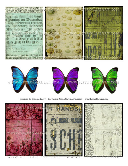 Elements Collage Sheet by Debrina Pratt - DP332