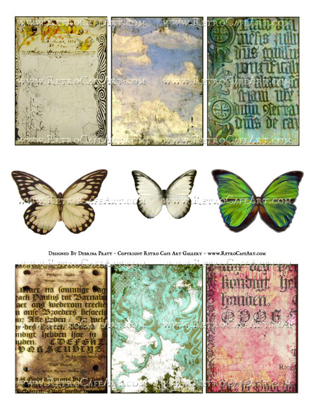 Elements Collage Sheet by Debrina Pratt - DP333