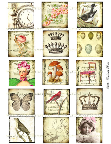 2 Inch Squares Collage Sheet by Debrina Pratt - DP36