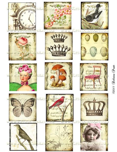 2 Inch Squares Collage Sheet by Debrina Pratt - DP36