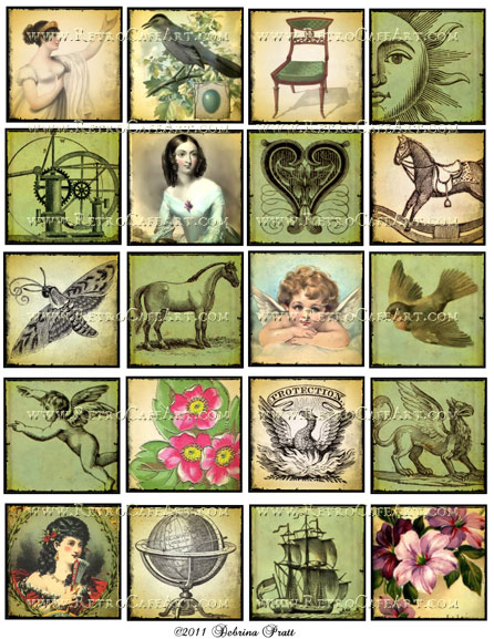 2 Inch Squares Collage Sheet by Debrina Pratt - DP38