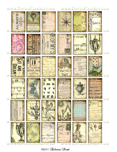 1 x 1.5 Inch Collage Sheet by Debrina Pratt - DP3